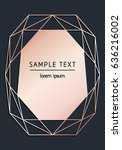 vector modern design template... | Shutterstock .eps vector #636216002
