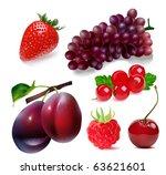 sweet fruits. vector... | Shutterstock . vector #63621601