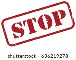 "grunge deep red colored ""stop""... 