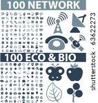 200 network   eco signs. vector | Shutterstock .eps vector #63622273