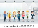 set of business team. a group... | Shutterstock .eps vector #636225212