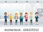 set of business team. a group... | Shutterstock .eps vector #636225212