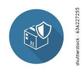 cargo protection icon. flat...