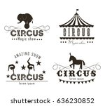vector set of circus logo ...