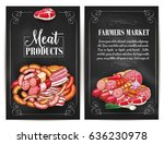 meat products of farmers market....   Shutterstock .eps vector #636230978