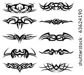 set of tribal tattoo including | Shutterstock .eps vector #63624190
