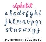 alphabet. abc hand lettering.... | Shutterstock . vector #636245156