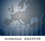 european finance and economy | Shutterstock .eps vector #636245198