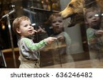 portrait of curiosity kid in a... | Shutterstock . vector #636246482