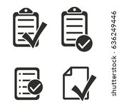 checklist vector icons set.... | Shutterstock .eps vector #636249446