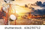 double exposure... | Shutterstock . vector #636250712