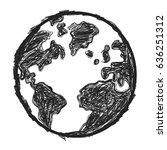 doodle earth | Shutterstock .eps vector #636251312