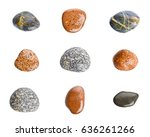 motley wet sea stones isolated...   Shutterstock . vector #636261266