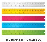 rulers | Shutterstock .eps vector #63626680