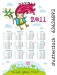 2011 calendar with cute fairy...   Shutterstock .eps vector #63626893