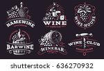 wine set logo   vector... | Shutterstock .eps vector #636270932