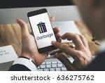 delete remove trash can... | Shutterstock . vector #636275762