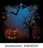 halloween night. halloween... | Shutterstock . vector #63628219