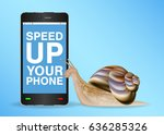 Snail And Slow Smart Phone Nee...