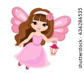 beautiful little fairy in a...   Shutterstock . vector #636286535