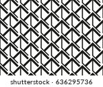 abstract geometric pattern with ... | Shutterstock .eps vector #636295736