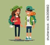 cool vector flat design... | Shutterstock .eps vector #636308882