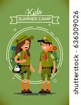 cool vector poster or banner... | Shutterstock .eps vector #636309026