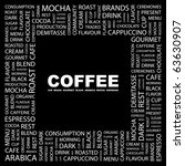 coffee. word collage on black... | Shutterstock .eps vector #63630907