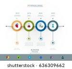 vector infographics timeline... | Shutterstock .eps vector #636309662