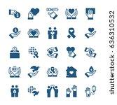 charity  sponsorship donation... | Shutterstock .eps vector #636310532