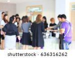 abstract blur image of lunch... | Shutterstock . vector #636316262