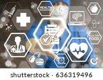 healthcare compliance... | Shutterstock . vector #636319496
