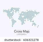 vector world map template with... | Shutterstock .eps vector #636321278
