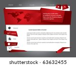 vector web site design template | Shutterstock .eps vector #63632455