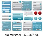 blue  website form set with... | Shutterstock .eps vector #63632473