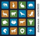 mammal icons set. set of 16... | Shutterstock .eps vector #636325055