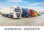 truck  transportation  freight...   Shutterstock . vector #636326978