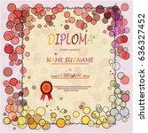 diploma certificate template... | Shutterstock .eps vector #636327452
