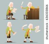 hronicler noble writer scribe... | Shutterstock .eps vector #636333866