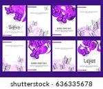 poster or banner set of world... | Shutterstock .eps vector #636335678