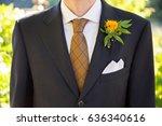 groom formal attire on wedding...   Shutterstock . vector #636340616