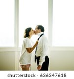 wife dress and tie businessman... | Shutterstock . vector #636347618