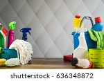 cleaning products | Shutterstock . vector #636348872