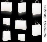 set of blank white paper... | Shutterstock .eps vector #63635161