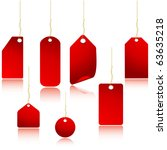 red vector price tags set... | Shutterstock .eps vector #63635218