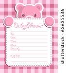 baby girl shower invitation | Shutterstock . vector #63635536