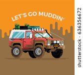 cool funny vector concept... | Shutterstock .eps vector #636356672