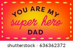 vector icon set of fathers day... | Shutterstock .eps vector #636362372