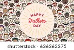 vector icon set of fathers day... | Shutterstock .eps vector #636362375