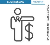 businessman icon. professional  ... | Shutterstock .eps vector #636362432